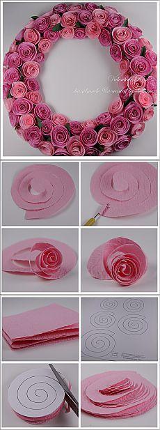 спиральные розы из бумаги - Поиск в Google