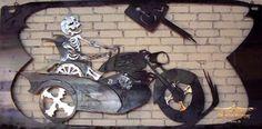 """""""Sidecar"""" 4' X 8' 16 gauge steel by Dan Statler #vulturekulture"""
