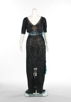 Evening Dress 1910, French, Made of silk