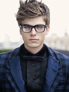stylish double lapels & eyewear