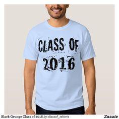 Black Grunge Class of 2016 T Shirts