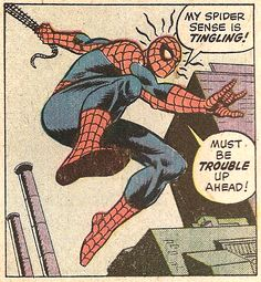 Spider Sense (by Ross Andru from a Hostess ad, 1975)