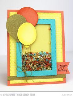 Birthday Shaker Card by Julie Dinn