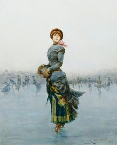 Lady Skating on Ice  Ludovico Marchetti (1853–1909)  Government Art Collection