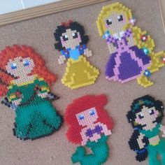 Disney Princess perler beads by wannabebalerina