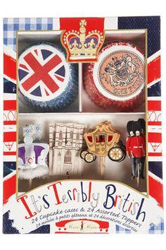 It's Terribly British cupcake set