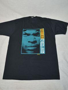 Vintage ICE CUBE Amerikkka's Most Wanted T-shirt RAP Hip Hop Rock Shirt 90's Concert Tour Screen Stars Label N.W.A.