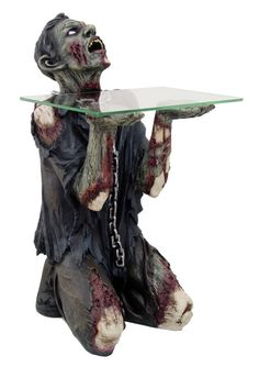 Decorative Scary Halloween Undead Zombie Figurine Table Statue Mesa  Zomi Muerto