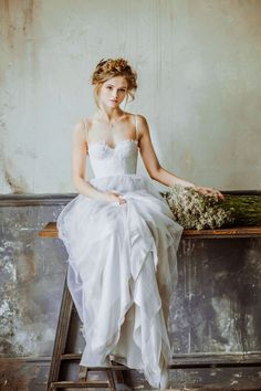 25 Gorgeous Ethereal Colored Wedding Dresses : http://www.fabmood.com/gorgeous-colored-wedding-dresses