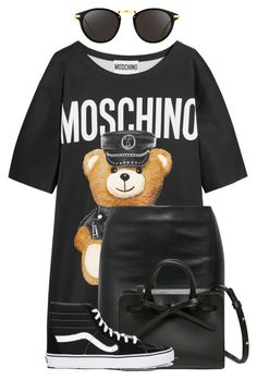 """Fav"" by nuria-f ❤ liked on Polyvore featuring Moschino, The Row, Vans and Linda Farrow"