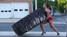 Girl Lifts 800 Pound Tire
