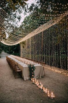 outdoor wedding reception ideas with string lights Wedding Looks, Chic Wedding, Perfect Wedding, Fall Wedding, Wedding Events, Dream Wedding, Wedding Rustic, Rustic Weddings, Country Weddings