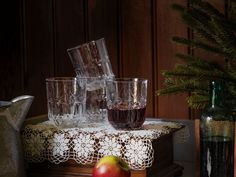 Sometimes the old ones are the best. The antique style of these SÄLLSKAPLIG glasses reminds us of dinners at Grandma's house, and they're the perfect match for a traditional table setting or cozy drinks around the fireplace with friends. #myIKEA #IKEA #SÄLLSKAPLIG #glas #Gläser #Weihnachten #Winter #Christmas #ideas #interior #traditional #tablesetting #design #trends #2020 #scandi #skandi #scandinavian #interior #interieur #design