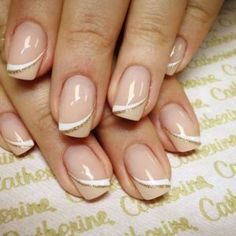 Top 45 Creative Gel Nail Art Designs Gallery If you're looking for an especially neat, put-together manicure, why not try out some gel nails? They're different from regular nail polish because the … French Nails, Catherine Nails, Cute Nails, My Nails, Soft Gel Nails, Dark Nails, Long Nails, Nailed It, Gel Nail Art Designs