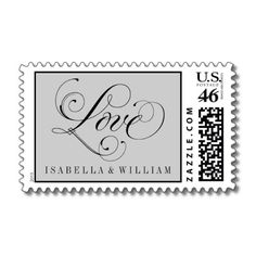 Love Wedding Postage Stamps | Calligraphy Script $22