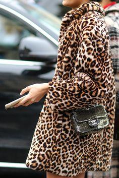 ♥️ Pinterest: DEBORAHPRAHA ♥️ leopard coat winter style
