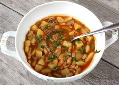 Chana Masala, Thai Red Curry, Detox, Food And Drink, Veggies, Fruit, Ethnic Recipes, Health, Soups