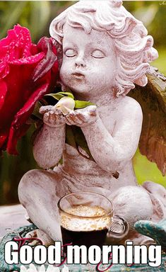 Good Morning Gif, Good Morning Picture, Tumblr Image, Facebook Image, Pictures Images, Garden Sculpture, Statue, Gifs, Memes