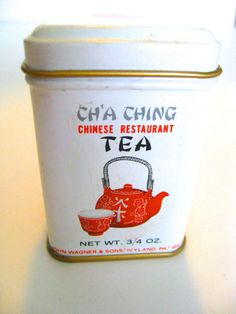 Tea Tin by Wagner  Cha Ching Chinese Restaurant Tea by Vinphemera, $7.50