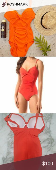 Robin Piccone onepiece NWT and hygiene adhesive Feature top padding and back reinforced strap  Nicely constructed robin Piccone  Swim One Pieces