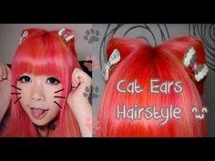 ▶ Easy Cat Ears Hairstyle Tutorial o(=^・ω・^=)o - YouTube