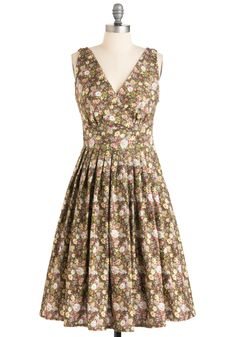The pattern on this dress reminds me of my great grandmother's house, but in the best possible way.
