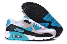 fb0f5b5846f Air Max 90 Womenss Shoes White Light Gray Blue Portugal