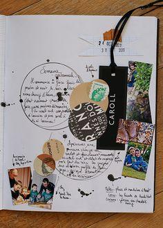 love the ink splatters & clusters of ephemera