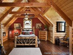 31 best Beautiful Bedrooms- Honest Abe Log Homes images on Pinterest ...