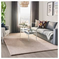 IKEA STOENSE rug, low pile The light sheen creates variations in the surface. Big Rugs, Medium Rugs, Professional Carpet Cleaning, Types Of Flooring, Bedroom Carpet, Round Rugs, How To Clean Carpet, Sisal, Living Room