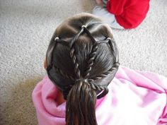 Hairstyles For Girls - Princess Hairstyles: An Easter Dress And Fancy Easter Hair ! Princess Hairstyles, Little Girl Hairstyles, Pretty Hairstyles, Princess Updo, Updo Hairstyle, Prom Hairstyles, Hairdos, Gymnastics Meet Hair, Hairstyles For Gymnastics