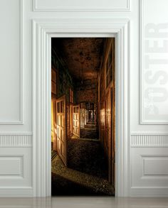"Door STICKER corridor hall hallway entrance mural decole film self-adhesive poster 30x79""(77x200 cm) /"