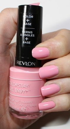 Revlon ColorStay Gel Envy in Cardshark be shy nail polish ever :)