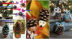 Creative DIY Pinecone Craft Projects for Kids - i Creative Ideas Recycled Art Projects, Craft Projects For Kids, Diy For Kids, Diy Projects, Craft Desk, Pine Cone Crafts, Painting For Kids, Spring Crafts, Pine Cones