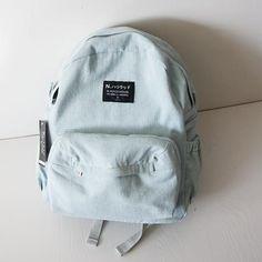 Japanese Denim School Bag Student Backpack Free shipping-himifashion