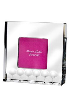 Monique Lhuillier Waterford Monique Lhuillier Waterford 'Atelier' Lead Crystal Picture Frame available at #Nordstrom
