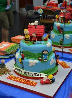 Peanuts Cake - by Jenny Kennedy @ CakesDecor.com - cake decorating website