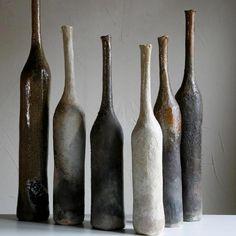 Hélène Soete bouteilles céramiques - Galerie Ocre Rouge