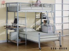 Mordern Double Deck Metal Frame Bunk Bed - Buy Metal Double Bunk Beds,Metal Bunk Bed,Adult Bunk Beds Product on Alibaba.com
