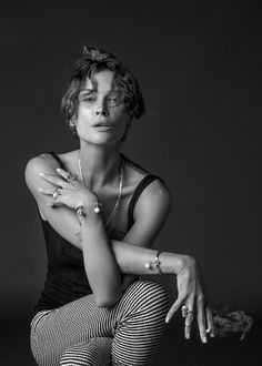 See How Erin Wasson Styles Her New Jewelry Line via @WhoWhatWear