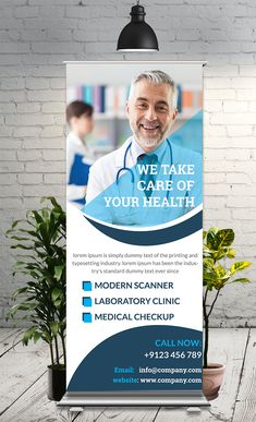 Medical Roll Up Banner – 🔥Freelance Graphic Designer🎨 Medical Roll Up Banner This Roll-Up Banner Template is perfectly suitable for promoting your Business. You can also use this template in multipurpose advertising purpose Tradeshow Banner Design, Rollup Banner Design, Standing Banner Design, Banner Design Inspiration, Pop Up Banner, Roll Up Design, Retractable Banner, Leaflet Design, Cool Business Cards