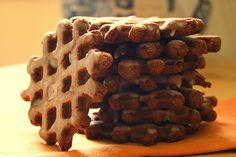 Chcolate cookies in a waffle iron? Must try!! Also can cook Jiffy cornbread and brownie mix in it :)