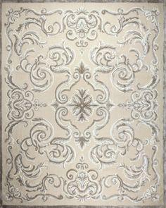 Tapis contemporain / en laine / en soie / à motif CARDINAL FICELLE Edition Bougainville