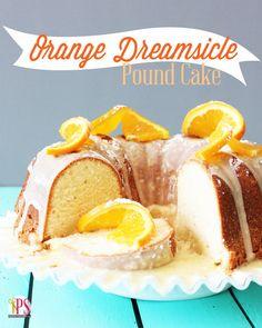 The perfect combination of sweet and tart! Orange Dreamsicle Pound Cake Recipe here...