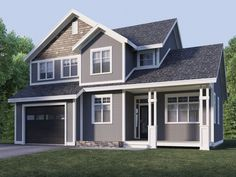 Exterior Incredible Picture Of Home Design And Decoration Using Dark Grey Roof Tile Along With Light Wall Color Paint