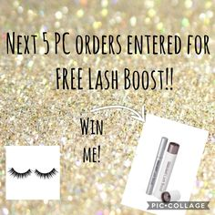 Place a PC order by March 25, 2018 for a chance to win a free lashboost!! Melissaayers.myrandf.com