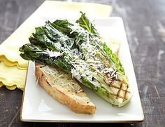 Grilled Caesar Salad  Keep the grill hot and try our out-of-the-box idea for a winning Caesar salad. We love the sweet, charred flavor that the romaine leaves take on.