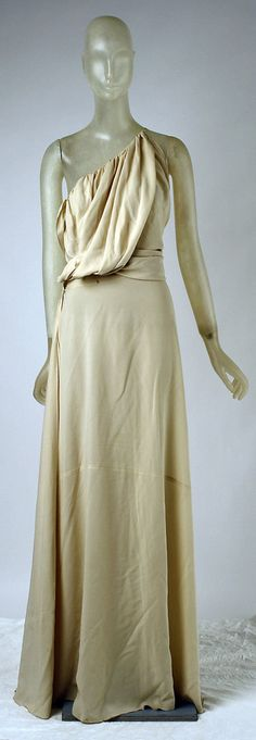Evening dress Madeleine Vionnet (French, Chilleurs-aux-Bois 1876–1975 Paris) Date: spring/summer 1937 Culture: French Medium: silk