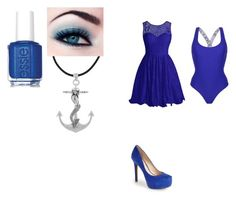 """""""the ocean"""" by jadziahblackman on Polyvore featuring Topshop, Essie, Jessica Simpson and Carolina Glamour Collection"""
