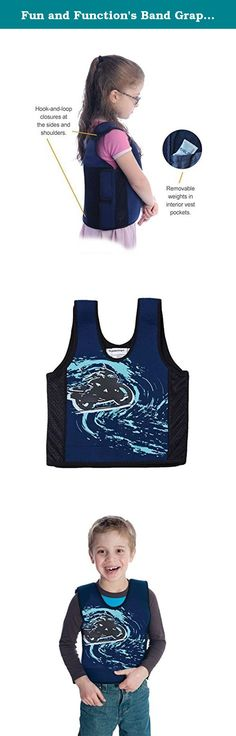 Fun and Function's Band Graphic Weighted Vest. Swim to the high seas with Fun and Function's Dolphin Weighted Compression Vest. Designed to calm and provide steady proprioceptive input, as the combined pressure and weight functions as a reassuring deep hug. Made of neoprene, your Dolphin Vest is designed for comfort with soft mesh material on the sides to increase air flow and ventilation. Weights are safely positioned in pockets inside the vest and can be added or removed. Vests include…
